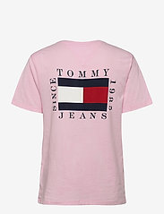 Tommy Jeans - TJW BOX FLAG TEE - t-shirts - romantic pink - 1