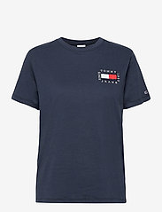 Tommy Jeans - TJW BOX FLAG TEE - t-shirts - twilight navy - 0