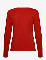 Tommy Jeans - TJW JERSEY V NECK LONGSLEEVE - long-sleeved tops - deep crimson - 1