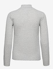Tommy Jeans - TJW RIB MOCK NECK LONGSLEEVE - long-sleeved tops - silver grey htr - 1