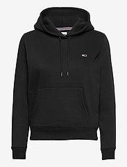 Tommy Jeans - TJW REGULAR FLEECE HOODIE - sweatshirts & hoodies - black - 0