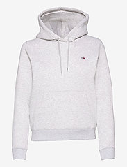 Tommy Jeans - TJW REGULAR FLEECE HOODIE - sweatshirts & hoodies - silver grey htr - 0
