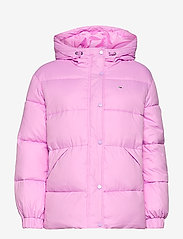 Tommy Jeans - TJW BELTED PUFFER - dun- & vadderade jackor - fresh orchid - 1