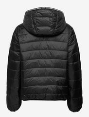 Tommy Jeans - TJW QUILTED TAPE HOODED JACKET - winter jackets - black - 1
