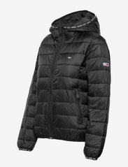 Tommy Jeans - TJW QUILTED TAPE HOODED JACKET - winter jackets - black - 2