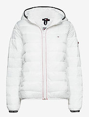 TJW QUILTED TAPE HOODED JACKET - WHITE