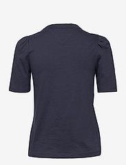 Tommy Jeans - TJW SLIM RUFFLED TEE - t-shirts - twilight navy - 1
