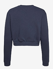 Tommy Jeans - TJW CROP COLLEGE LOGO SWEATSHIRT - sweatshirts & hoodies - twilight navy - 1