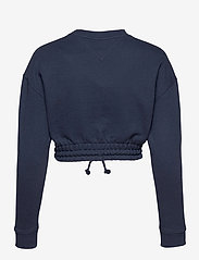 Tommy Jeans - TJW SUPER CROPPED BADGE CREW - crop tops - twilight navy - 1