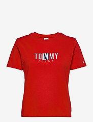 Tommy Jeans - TJW REGULAR TIMELESS BOX TEE - t-shirts - deep crimson - 0