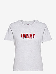 Tommy Jeans - TJW REGULAR TIMELESS BOX TEE - t-shirts - silver grey htr - 0