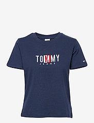 Tommy Jeans - TJW REGULAR TIMELESS BOX TEE - t-shirts - twilight navy - 0