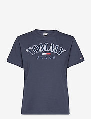 Tommy Jeans - TJW RELAXED COLLEGE LOGO TEE - t-shirts - twilight navy - 0