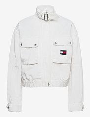 Tommy Jeans - TJW CROP UTILITY JACKET - utility-jakker - white - 0