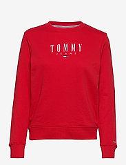 Tommy Jeans - TJW REGULAR ESSENTIAL LOGO - sweatshirts & hoodies - deep crimson - 0