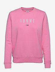 Tommy Jeans - TJW REGULAR ESSENTIAL LOGO - sweatshirts & hoodies - pink daisy - 0