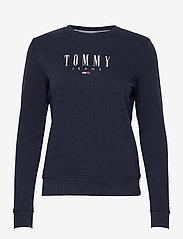 Tommy Jeans - TJW REGULAR ESSENTIAL LOGO - sweatshirts & hoodies - twilight navy - 0