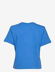 Tommy Jeans - TJW BXY CROP LINEAR LOGO TEE - crop tops - gulf coast blue - 1
