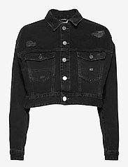Tommy Jeans - CROPPED TRUCKER JACKET SSPBBRD - jeansjackor - save sp bk bk rgd destr - 0