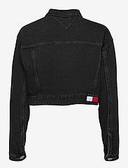 Tommy Jeans - CROPPED TRUCKER JACKET SSPBBRD - jeansjackor - save sp bk bk rgd destr - 1
