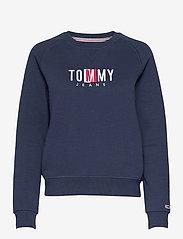 Tommy Jeans - TJW BXY TIMELESS BOX SWEATSHIRT - sweatshirts & hoodies - twilight navy - 0