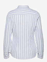 Tommy Jeans - TJW SLIM OXFORD STRIPE SHIRT - långärmade toppar - moderate blue / white - 1