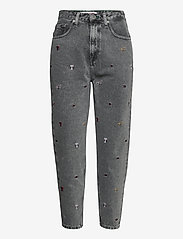 Tommy Jeans - MOM JEAN HR TPRD SSPGR - mom jeans - save sp critter grey rig - 0