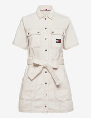 Tommy Jeans - UTILITY TWILL DRESS AE795 SWR - summer dresses - denim color - 0