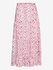 Tommy Jeans - TJW PRINTED TIERED MIDI SKIRT - midi skirts - camo floral print - 0