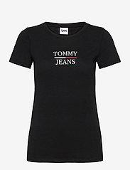 Tommy Jeans - TJW SKINNY ESSENTIAL LOGO TEE - t-shirts - black - 0