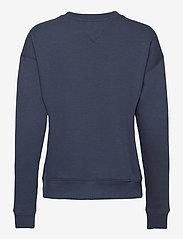 Tommy Jeans - TJW LINEAR CREW NECK - sweatshirts - twilight navy - 1