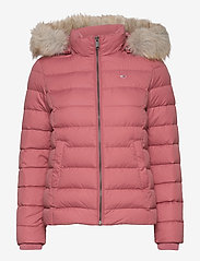 Tommy Jeans - TJW BASIC HOODED DOWN JACKET - dun- & vadderade jackor - withered rose - 0