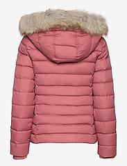 Tommy Jeans - TJW BASIC HOODED DOWN JACKET - dun- & vadderade jackor - withered rose - 1