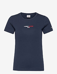 Tommy Jeans - TJW LINEAR LOGO TEE - t-shirts - twilight navy - 0