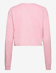 Tommy Jeans - TJW LINEAR LOGO LONGSLEEVE - crop tops - romantic pink - 1