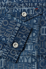 Tommy Jeans - THDM TOMMY JACQUARD DENIM TRUCKER - farkkutakit - tommy jacquard denim - 3