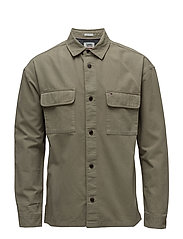 TJM WORKWEAR SHIRT, - DEEP LICHEN