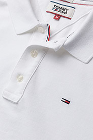 Tommy Jeans - TJM ORIGINAL FINE PI - kortermede - classic white - 2