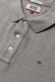 Tommy Jeans - TJM ORIGINAL FINE PI - kurzärmelig - lt grey htr - 2