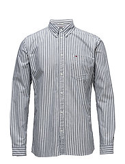 TJM TOMMY CLASSICS STRIPE SHIRT - BLACK IRIS
