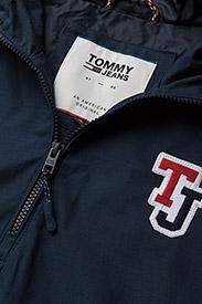 Tommy Jeans - TJM LOGO PULLOVER JA - light jackets - black iris - 3