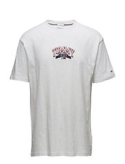 TJM COLLEGE EMBROIDERY TEE - CLASSIC WHITE