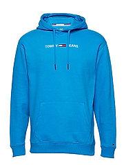 TJM SMALL LOGO HOODIE - BRILLIANT BLUE