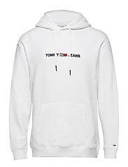 TJM SMALL LOGO HOODIE - CLASSIC WHITE