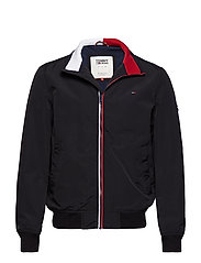 TJM ESSENTIAL CASUAL BOMBER - TOMMY BLACK