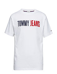 TJM TOMMY JEANS TEE, - CLASSIC WHITE
