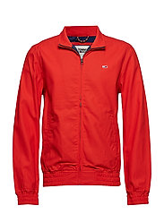 TJM CASUAL COTTON JACKET - FLAME SCARLET