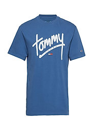 TJM HANDWRITING TEE - FEDERAL BLUE