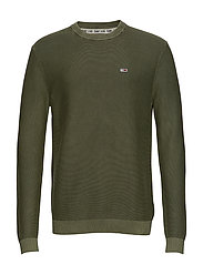 TJM WASHED SWEATER - OLIVE NIGHT