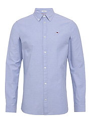 TJM STRETCH OXFORD SHIRT - LIGHT BLUE